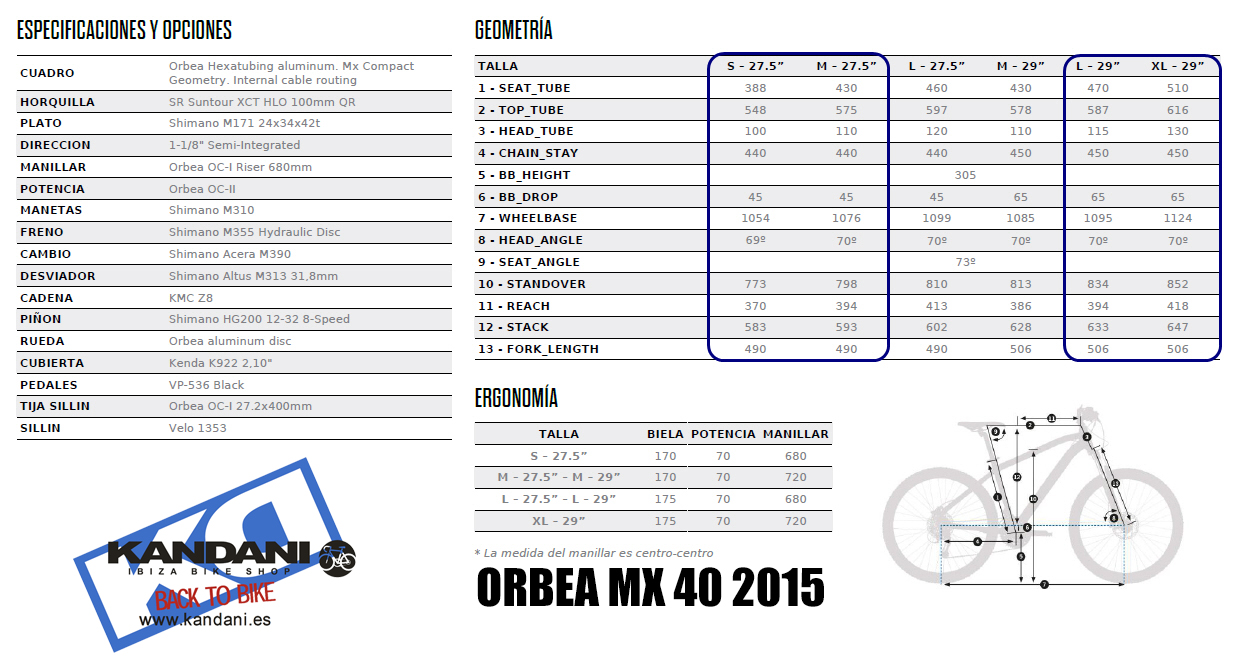 FICHA 2 ORBEA MX 40