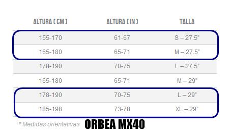 GUÍA DE TALLAS MX 40