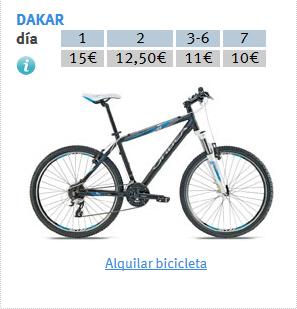 PRECIOS ALQUILER DAKAR