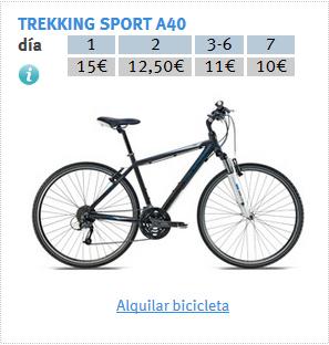 PRECIOS ALQUILER TREKKING
