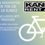 ALQUILER BICICLETA FIN DE SEMANA 10 €. OFERTA PARA RESIDENTES