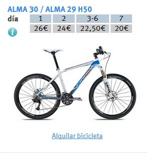 TABLA PRECIOS ALMA H30